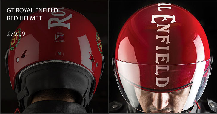 GT Royal Enfield Helmet - Red