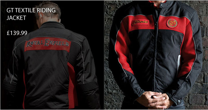 GT Royal Enfield Textile Jacket - Red