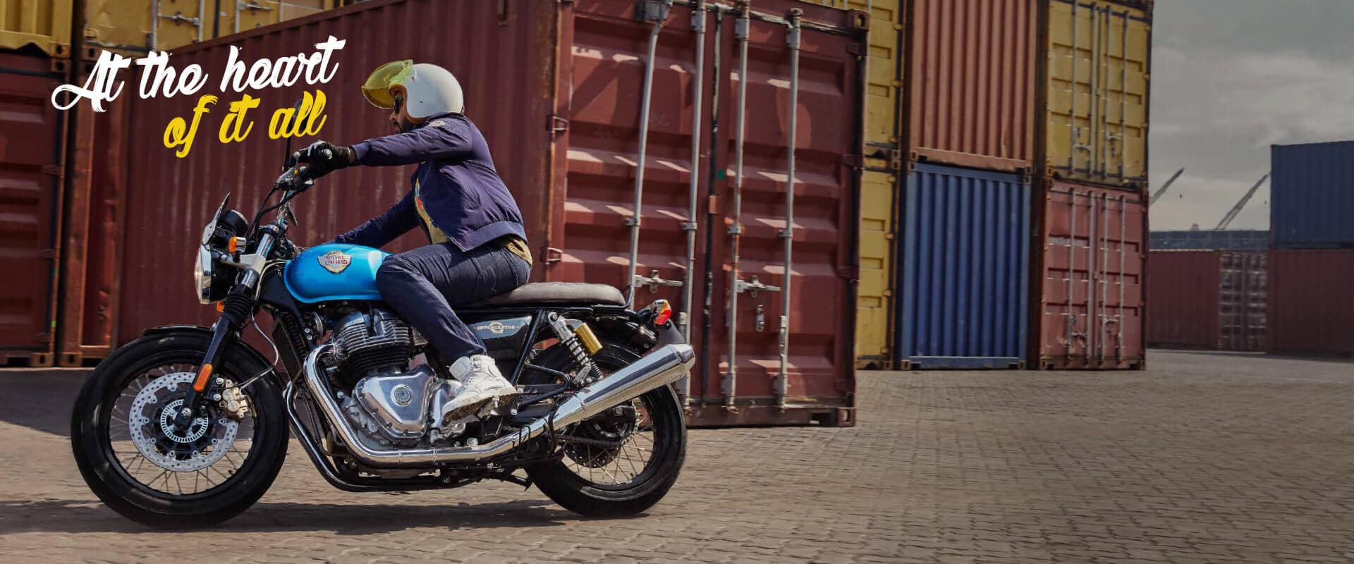 The Royal Enfield Interceptor features smooth 649cc four-stroke, air-cooled parallel-twin engine with a six-speed gearbox