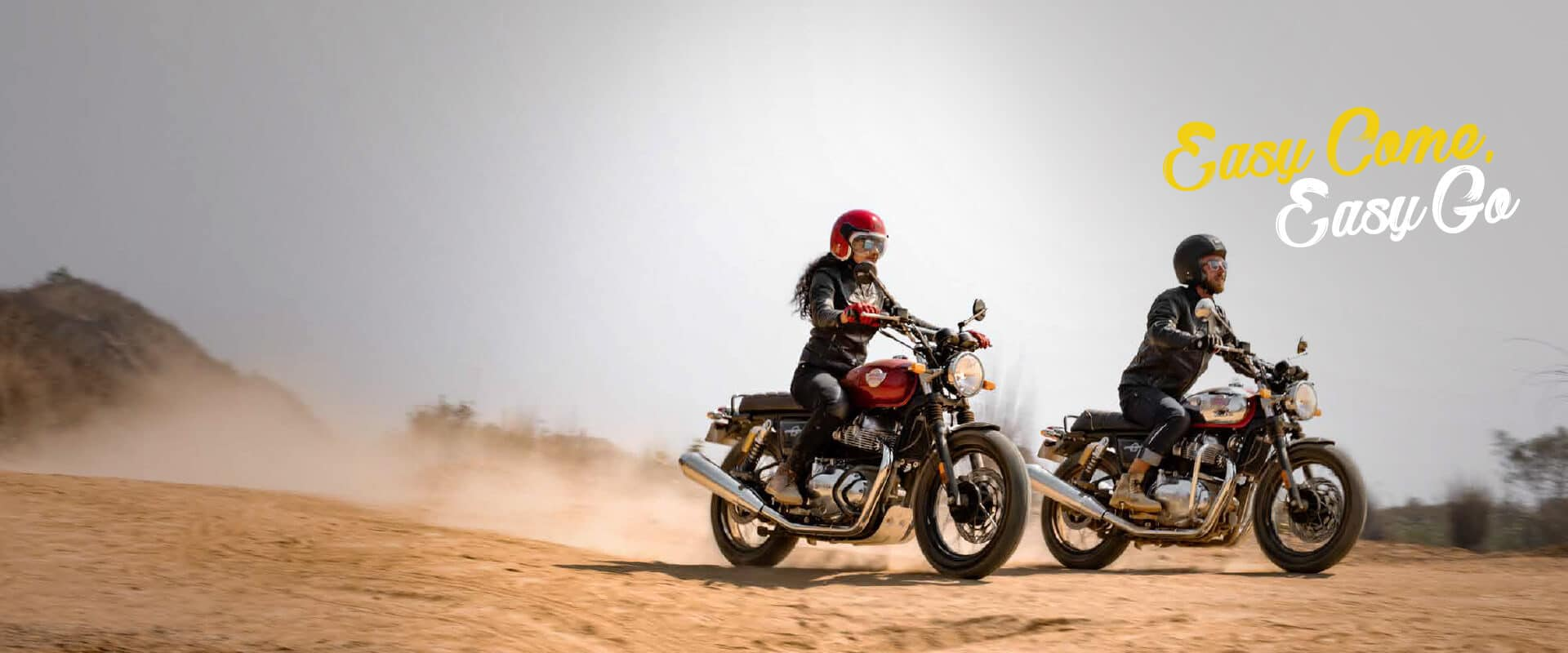 The Royal Enfield Interceptor has a relaxed, sit-up riding position, sure to bring a smile to your face.
