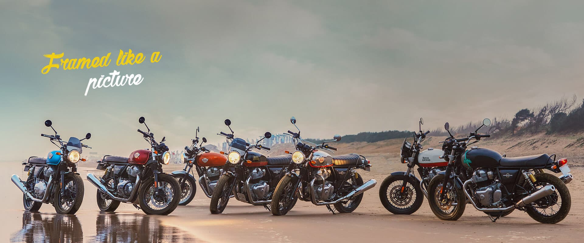 The Royal Enfield Interceptor is available in 7 different colours