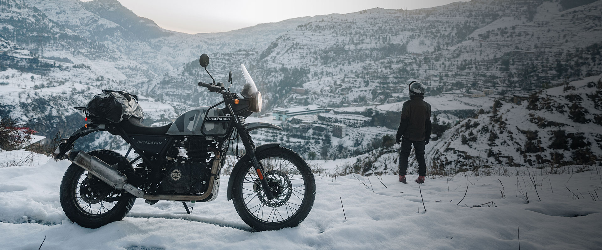 In the snow with the Royal Enfield Himalayan